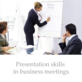 Presentation skills in business meetings